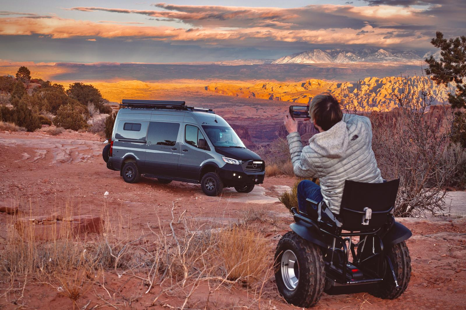 "Kyle photographs ""Dusky"" in Moab on his adventure back home"
